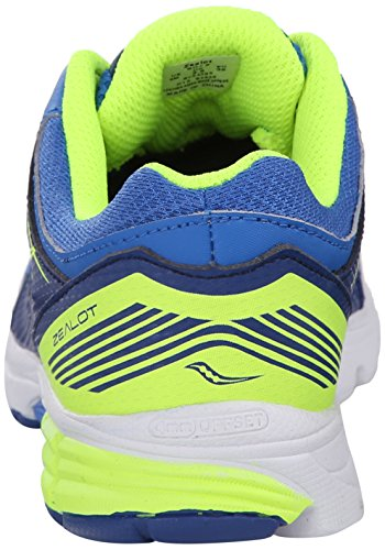 Saucony Zealot Sneaker (Little Kid/Big Kid) Blue/Citron