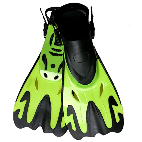 Short Fins Diving Fins for Swimming Snorkeling Aquatic Activity Fitness Accessory for Sport Exercise (Color : Green, Size : UK 41-44 US 9-12) (Best Stepper Machine Uk)