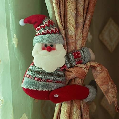 Christmas Curtain Buckle, Cute Cartoon Doll Curtain Buckle Window Decoration Home Decors Christmas Decorations (A)]()