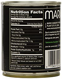 Mario Pitted Black Olives, Medium, 3.25-Ounce Cans, (Pack of 12)