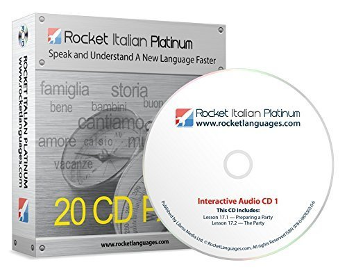 Mac Pack Platinum (Learn Italian: Rocket Italian Platinum 20CD Pack - Modules 16 to 22 (100+ learning hours) + Online Access)