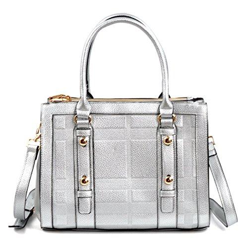 Belted Classic Solid Color Medium Satchel Bag Shoulder Handbag Purse Cross Body Bag