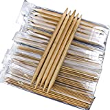 Whitelotous 75pcs 20cm Double Pointed Carbonized Bamboo Knitting Needles