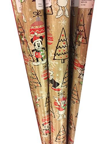 Vintage Christmas Wrapping Paper (Disney Vintage Mickey & Minnie Christmas Wrapping Paper 40 Sq. Ft. (1 Roll))