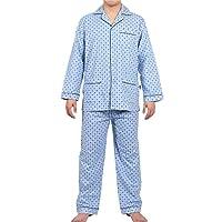 GLOBAL Men's Long-Sleeve Sleepwear 100% Cotton Pajamas Set