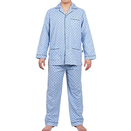 - GLOBAL Pajama Set for Men, Soft Loungewear Top and Pants/Bottoms Sleepwear with Elastic Waist