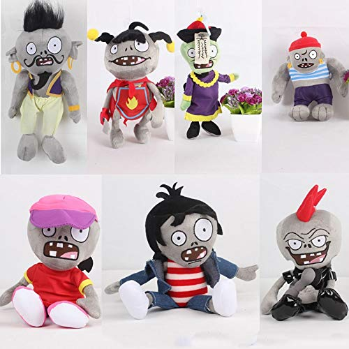 RAFGL 7Pcs/Lot New Plants Vs Zombies Plush Toys PVZ Gargantuar Zombie Plush Stuffed Toys for Children Kids Gifts Baby Boy Must Haves Boys Favourite Characters Superhero Party Decorations by RAFGL