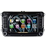 Sonic Audio RNS-VW Système de navigation radio/CD/DVD/GPS/navigation par satellite équipé d'un port USB/port SD/de connectiques AUX/de la technologie Bluetooth/d'une connectique iPod Compatible avec VW Golf/Passat/Polo/Touran/Sharan/Scirocco/Amarok/Transporter/T5/Eos/Jetta/Caddy