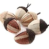 12 Assorted Rustic Artificial Acorns Thanksgiving Fall Decorations