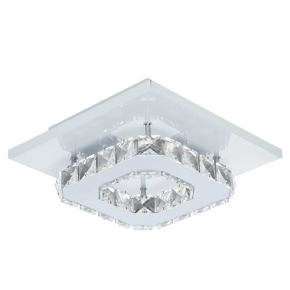 Sonmer Modern Mini Crystal Ceiling Light, Flush Mount Chandelier
