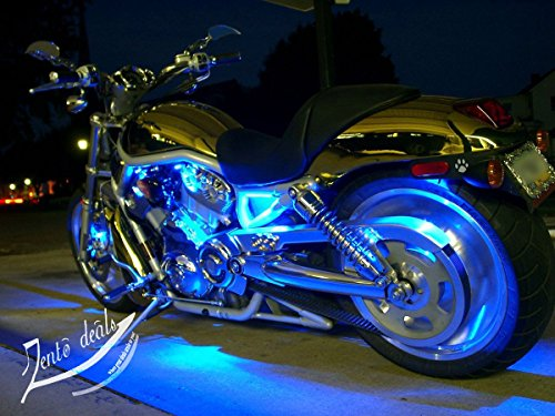 Zento-Deals-30cm-Blue-LED-Car-Flexible-Waterproof-Light-Strips