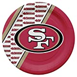 Duck House NFL San Francisco 49Ers Disposable Paper Plates, Pack of 20