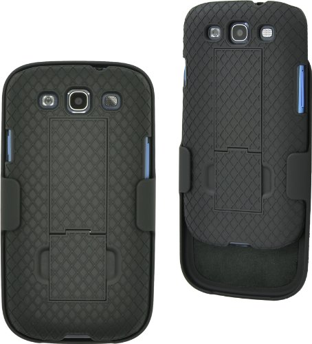 Aduro Galaxy S3 Shell Holster Combo Case with Kick-Stand for AT&T, Verizon, T-Mobile, US Cellular,Sprint Samsung Galaxy S3
