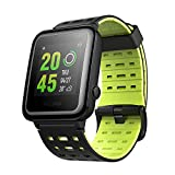 Weloop Hey 3S Sport Bluetooth Smart Watch with Silicone Strap Touch Screen Heart Rate GPS Tracker Pedometer Run Swimming Sleep Monitor Fitness Outdoor Sport Waterproof Smartwatch for Android IOS