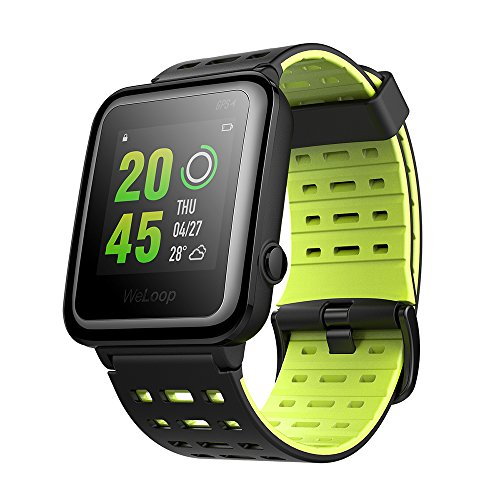 Weloop Hey 3S Sport Bluetooth Smart Watch with Silicone Strap Touch Screen Heart Rate GPS Tracker Pedometer Run Swimming Sleep Monitor Fitness Outdoor Sport Waterproof Smartwatch for Android IOS For Sale