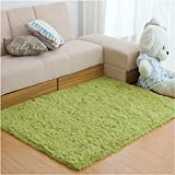 Garwarm Creative Contracted fashion Modern fluffy Soft Flannel Non-Slip Easy-Clean Area Rugs Floor Carpet Mats Pad for Kids Room Living Room Kitchen Bedroom Home Decoration with 4 Size-Green Grass