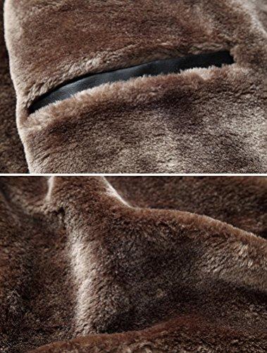 Giubbini Foderato Blazer Tops Casual Pu Spessa In Pelle Uomo Parka Caldo Invernale Rivestito Giacca Nero Cappotto Imbottito Zhiyuanan xwHPUYa6qa