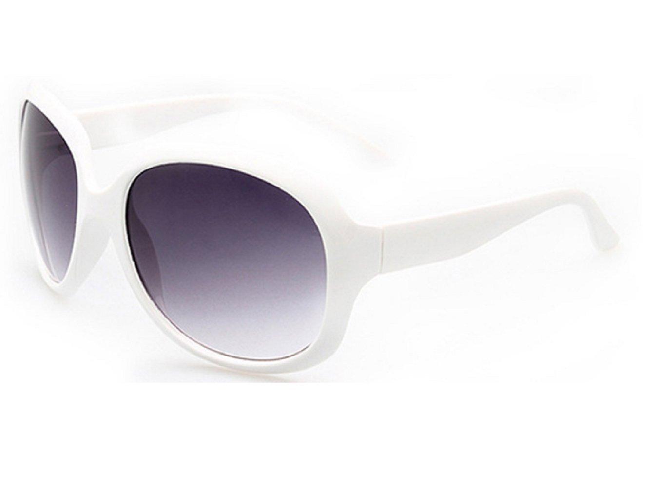 (Bianco) Occhiali Da Sole Donna Grandi Vintage Retro Polarizzati UV 400