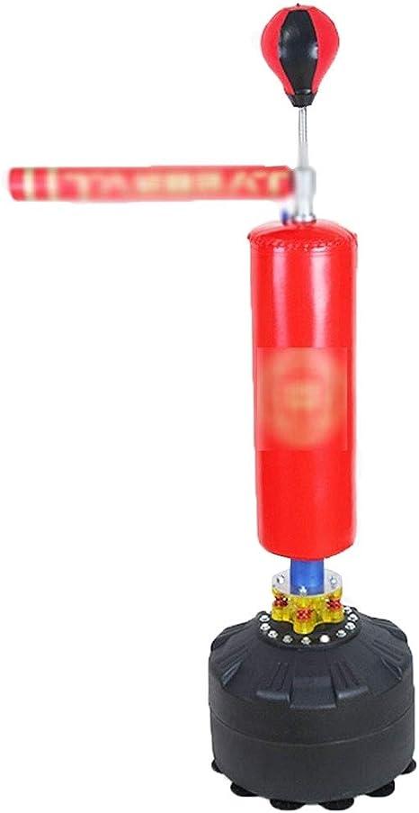 LRZLZY Boxing Sandbag Reaction Target Microfiber Boxing Reaction Target Reactor Training Equipment Dodge Rotation Speed Ball Stick Target Color : BROWN, Size : 50 * 160CM