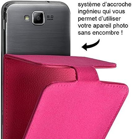 Seluxion – Funda con tapa tapa color rosa Universal S para Carrefour Smart 5: Amazon.es: Electrónica