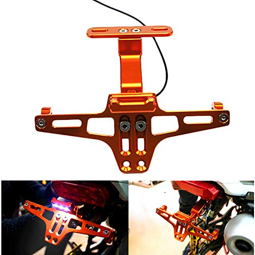 TOOGOO Electric Motorcycle Size Displacement Msx Adjustable License Plate Frame Curved Beam Cnc Aluminum Alloy Aircraft License Plate Frame Universal