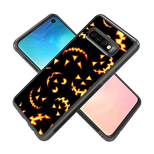 Case Compatible Galaxy S10 (2019) 6.1inch Halloween Pumpkin Scary