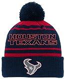 NFL Youth Boys Reflective Cuff Knit Pom Hat-Deep Obsidian -1 Size, Houston Texans