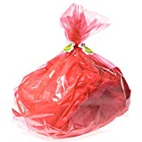 Red Cellophane Basket Bags