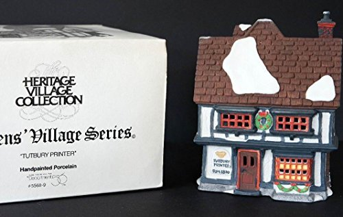 56 Heritage Village - Heritage Village Collection ; Dickens' Village Series ; Tutbury Printer #5568-9 ; Dept. 56