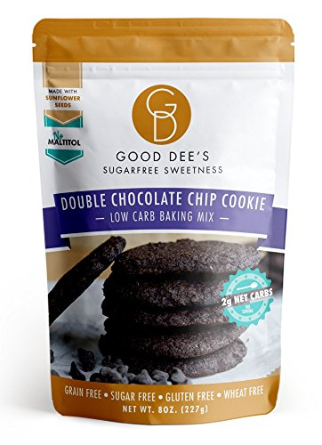 Low Carb Sugar Cookies - Good Dee's Double Chocolate Chip Cookie Mix - Low-carb, Sugar-free, Gluten-free, Grain-free, 2 Net Carbs!