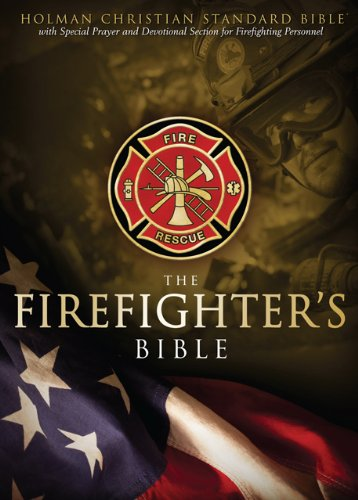(HCSB Firefighter's Bible, Red LeatherTouch)