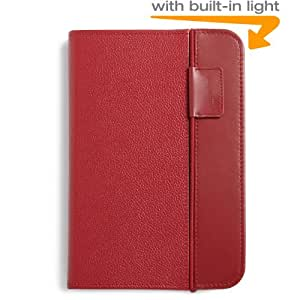 Kindle Lighted Leather Cover, Burgundy Red (Fits Kindle Keyboard)
