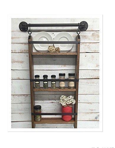Amazon.com: Ladder Shelf-Kitchen Shelves Wall Mounted ...
