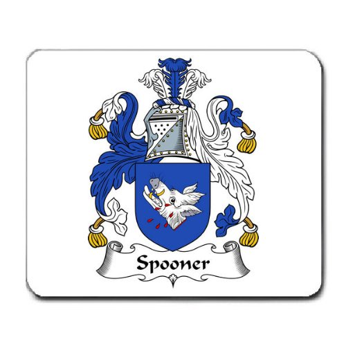 high-quality Spooner Family Crest Coat of Arms Mouse Pad
