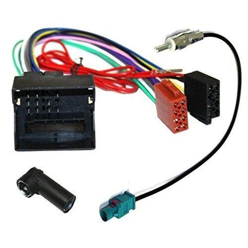 AERZETIX: Adaptador con ISO cables enchufes para antena de autoradio: Amazon.es: Electrónica