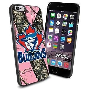 Toronto Blue Jays MLB PinkCamo Logo WADE6231 Baseball iPhone 6 4.7 inch Case Protection Black Rubber Cover Protector