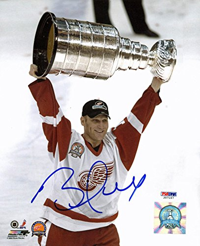 Brett Hull Signed Red Wings - Red Wings Brett Hull Authentic Signed 8X10 Photo Autographed PSA/DNA #J07167