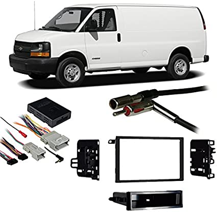 Fits Chevy Express 2003-2007 Double DIN Stereo Harness Radio Install Dash Kit