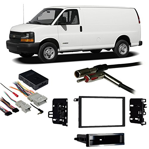 Chevy Van Radio - Fits Chevy Full Size Van Express 03-07 Double DIN Harness Radio Dash Kit
