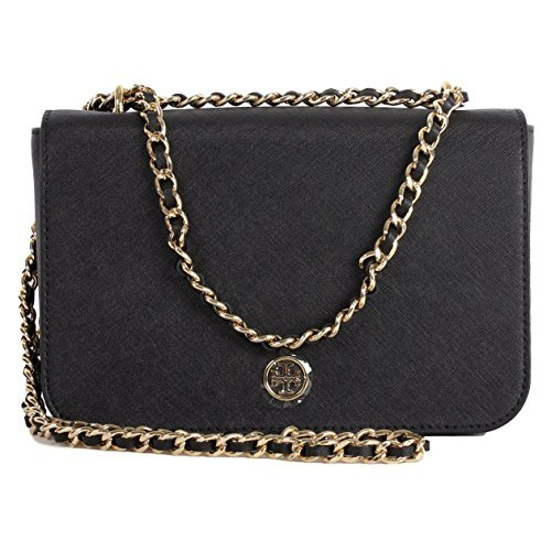 Tory Burch Robinson Adjustable Shoulder Bag, Style NO.43480 Black by Tory Burch
