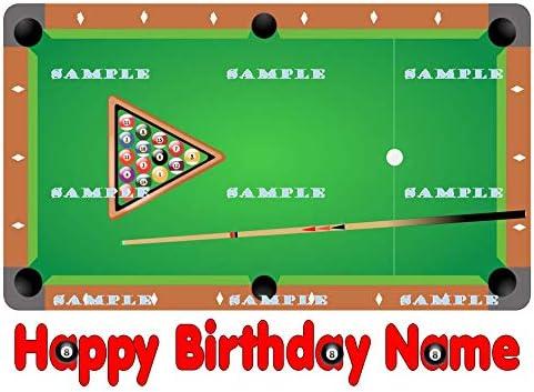 Tremendous Amazon Com Pool Billiard Table Personalized Edible Birthday Cake Personalised Birthday Cards Akebfashionlily Jamesorg