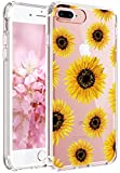 iPhone 7 Case,iPhone 8 Case,JAHOLAN Girl Floral Clear TPU Soft Slim Flexible Silicone Cover Phone case for Apple iPhone 7 / iPhone 8 -SunFlower