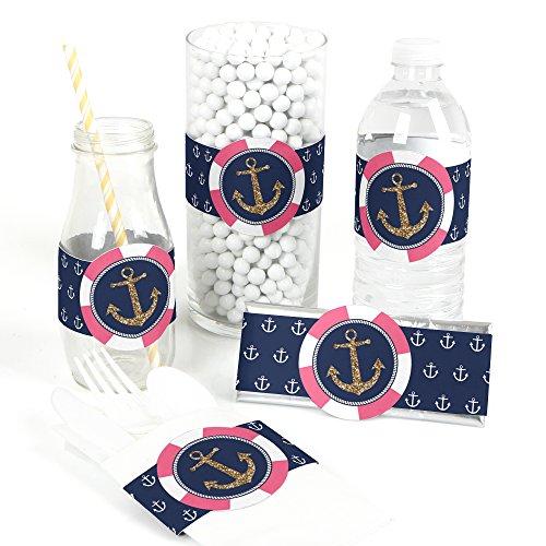 (Last Sail Before The Veil - DIY Party Supplies - Bridal Shower or Bachelorette Party DIY Wrapper Favors & Decorations - Set of)