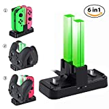 Nintendo Switch Joy-Con and Pro Controller Charging Dock KINGTOP 6 in 1 Joy-Con Pro Controller Charger Station with Individual LEDs indication Review
