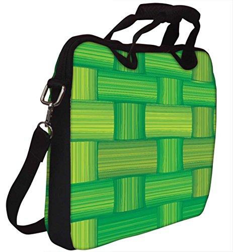 Snoogg Green Bamboo Mat Nahtlose Vektor Textur Gedruckt Notebook-Tasche mit Schultergurt 15 bis 15,6 Zoll