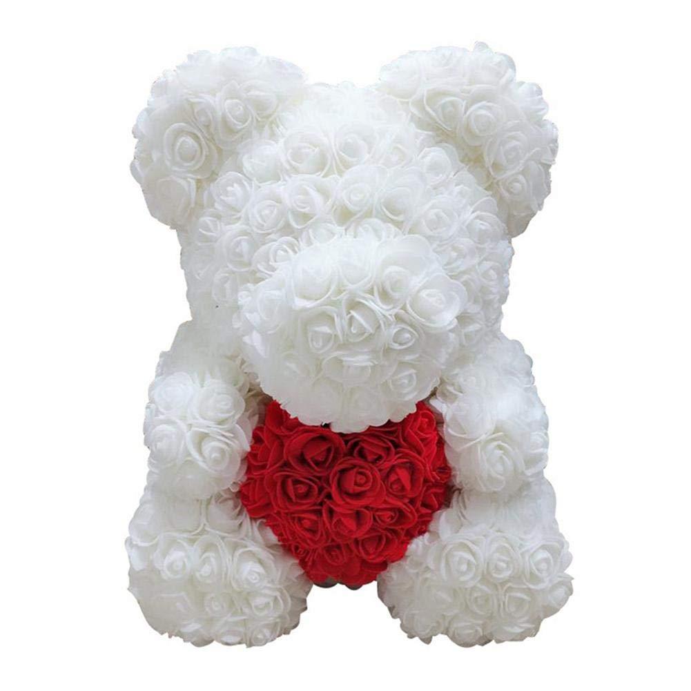 Pour toujours Rose ours en peluche Fleur artificielle Rose anniversaire No/ël Saint Valentin Creative cadeau danniversaire En Peluche Poup/ée D/écoration