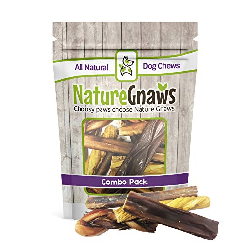 Nature Gnaws Small Variety Pack (12 Count) - 100% Natural Dog Chew Treats