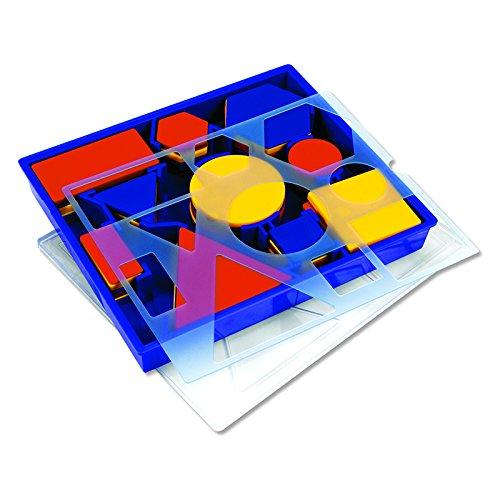 LEARNING RESOURCES ATTRIBUTE BLOCKS SET DESK SET (Set of 6)