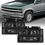 1998 silverado headlights - Chevy C/K 1500/2500/3500 Tahoe Suburban Silverado Full Size C10 Headlights LH/RH Smoke Headlamp