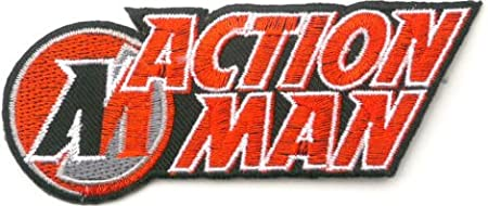 Action Man Embroidered Badge Patch Iron Or Sew On 12cm X 45cm